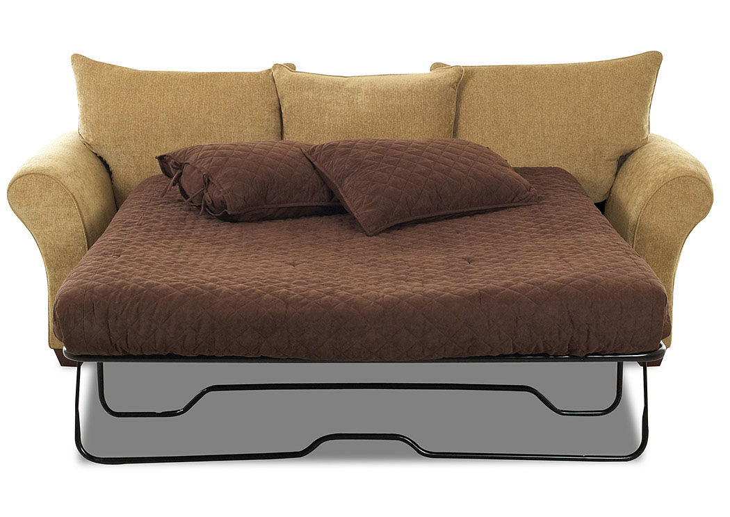 Fletcher Jive Tan Fabric Sleeper Sofa,Klaussner Home Furnishings