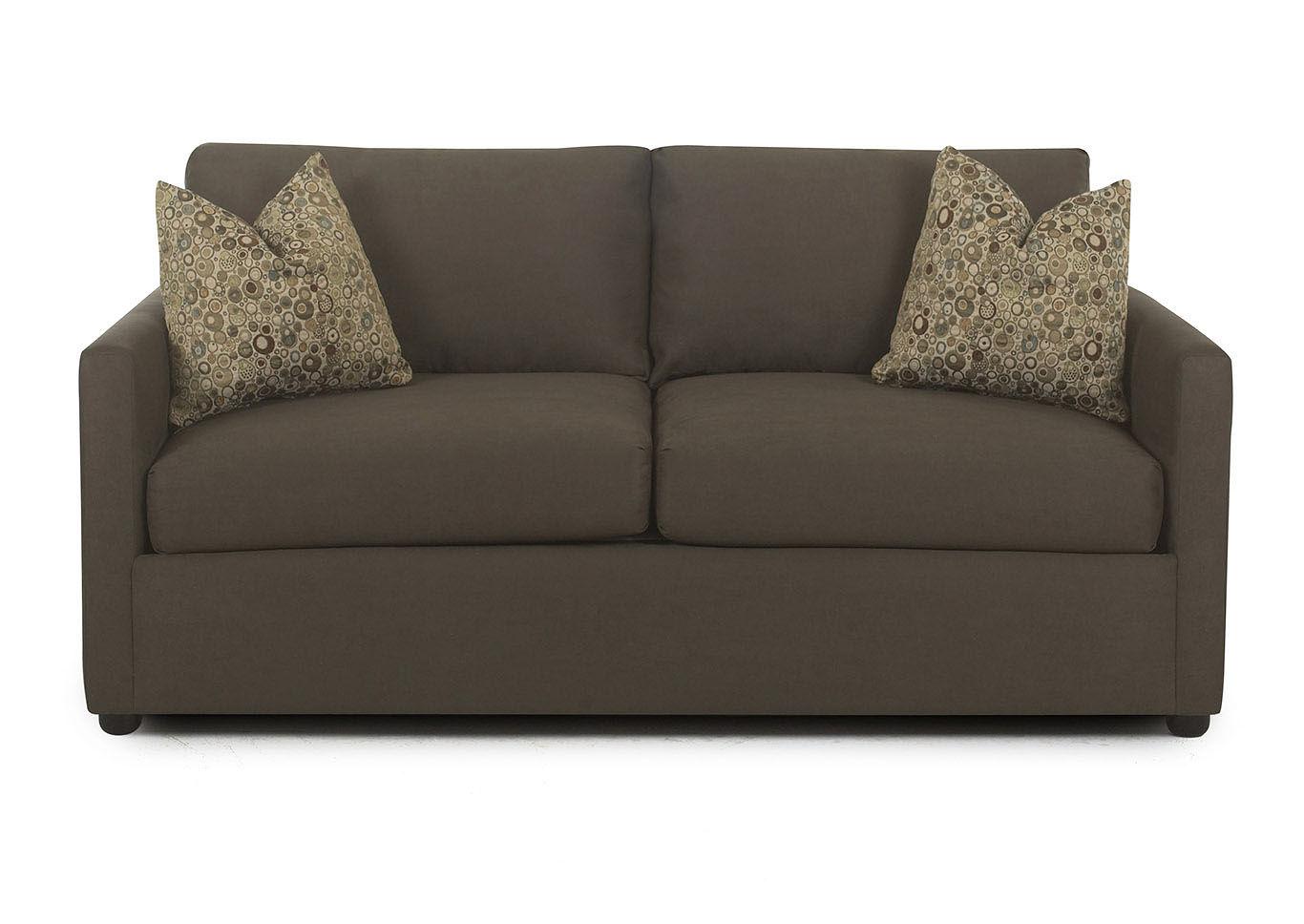 Jacobs Cocoa Stationary Fabric and Leather Sofa,Klaussner Home Furnishings