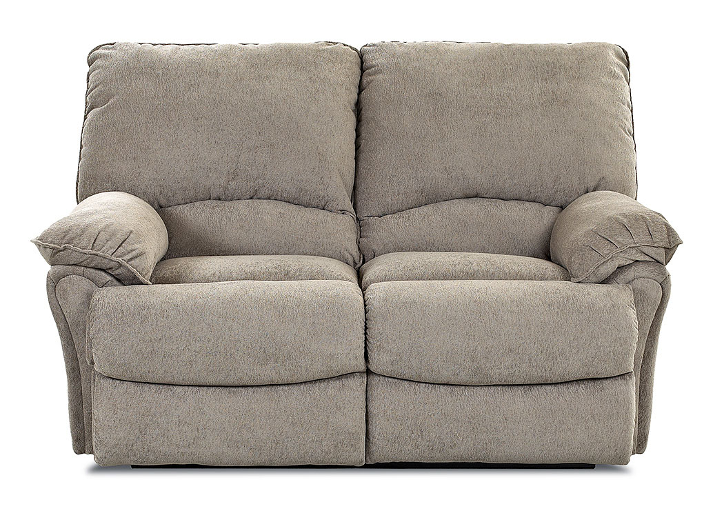 Weatherstone Takeoff Sage Brown Reclining Fabric Loveseat,Klaussner Home Furnishings
