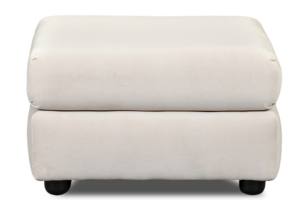 Possibilities Belshire Buck Beige Stationary Fabric Ottoman,Klaussner Home Furnishings