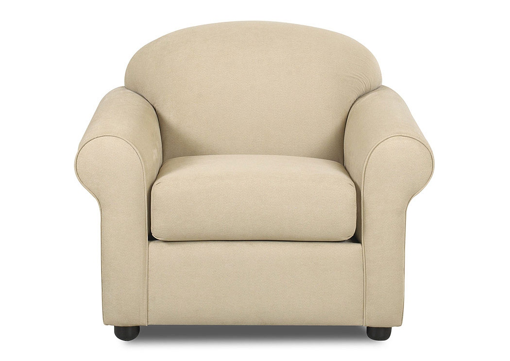 Possibilities Fastlane Oatmeal Beige Stationary Fabric Chair,Klaussner Home Furnishings