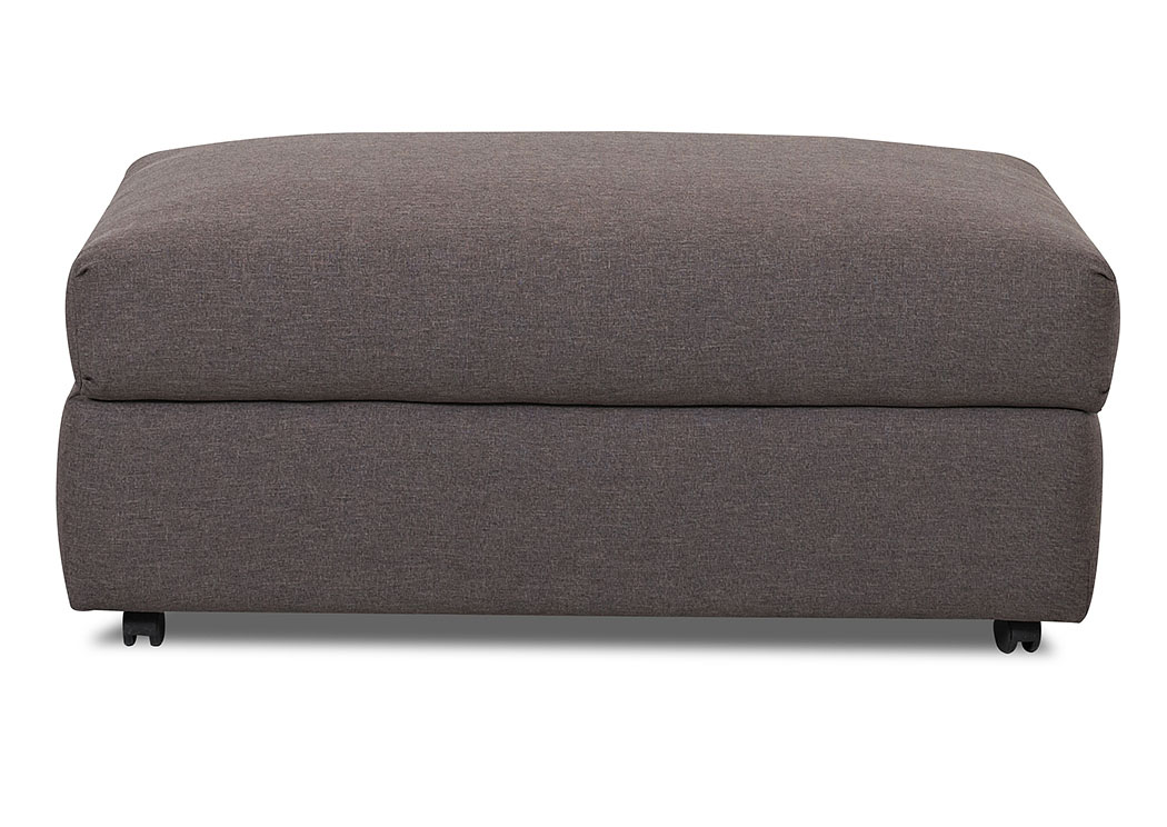 Possibilities Hayden Antelope Brown Stationary Fabric Storage Ottoman,Klaussner Home Furnishings