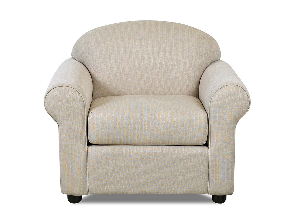 Possibilities Hilo Flax Beige Stationary Fabric Chair,Klaussner Home Furnishings