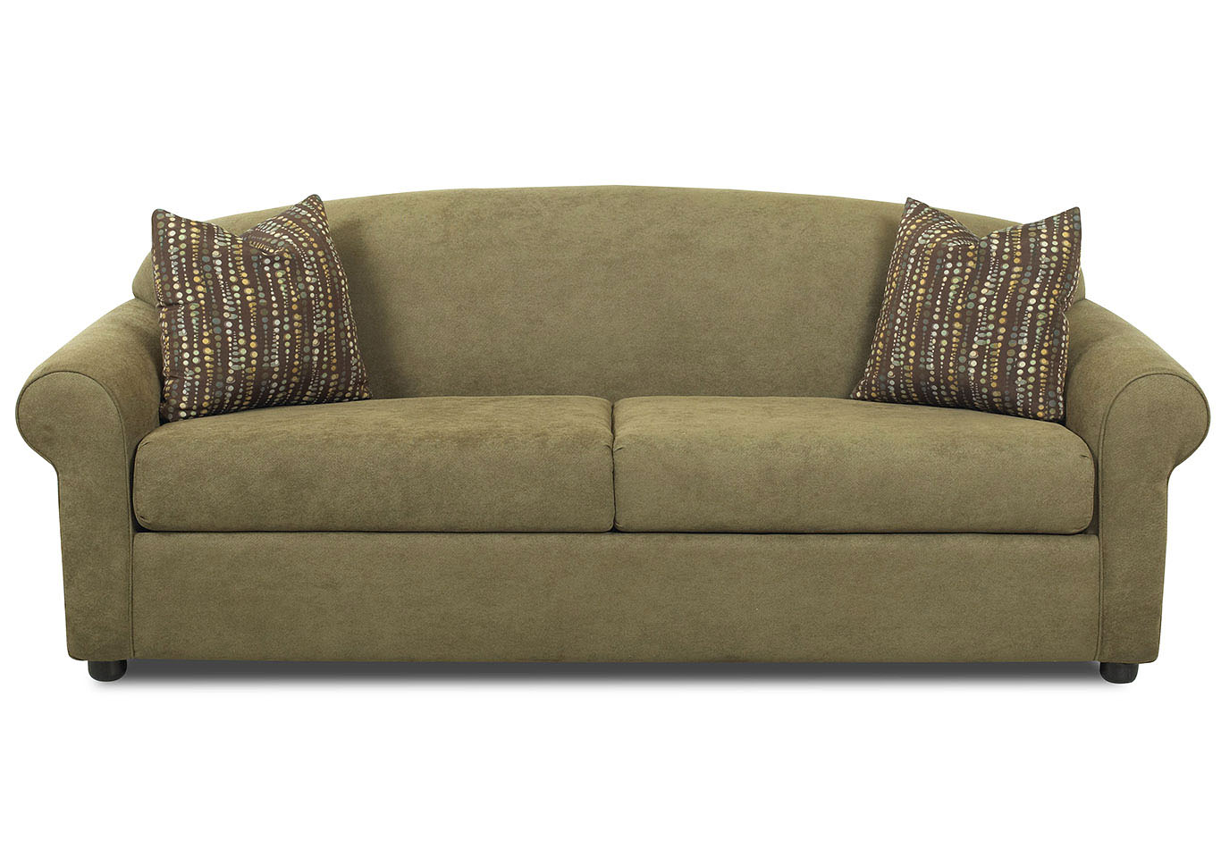 Possibilities Olive Green Stationary Fabric Sofa,Klaussner Home Furnishings