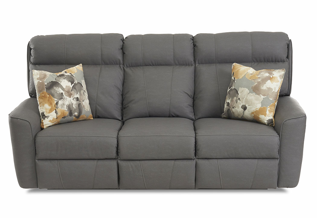 Elara Pompeii Dark Gray Power Reclining Fabric Sofa,Klaussner Home Furnishings