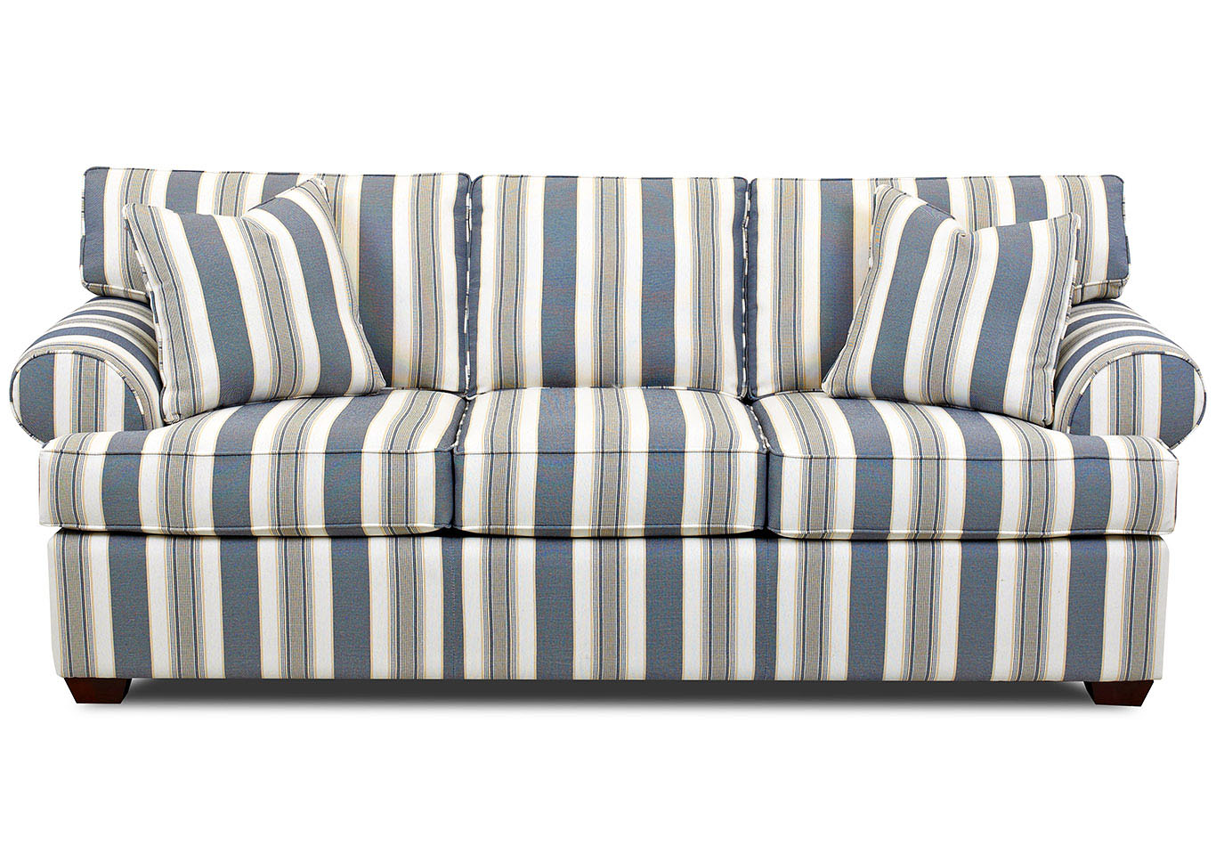 Lady Caymen-Breeze Striped Stationary Fabric Sofa Best Buy Furniture And Mattress