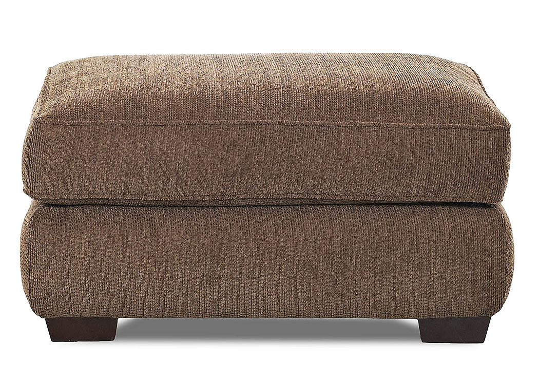 Vaughn Bark Brown Stationary Fabric Ottoman,Klaussner Home Furnishings
