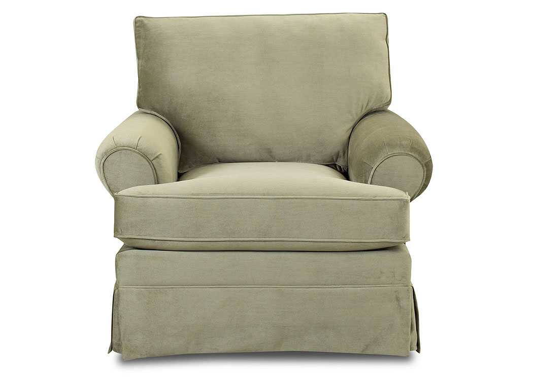 Carolina Belshire Taupe Stationary Fabric Chair,Klaussner Home Furnishings
