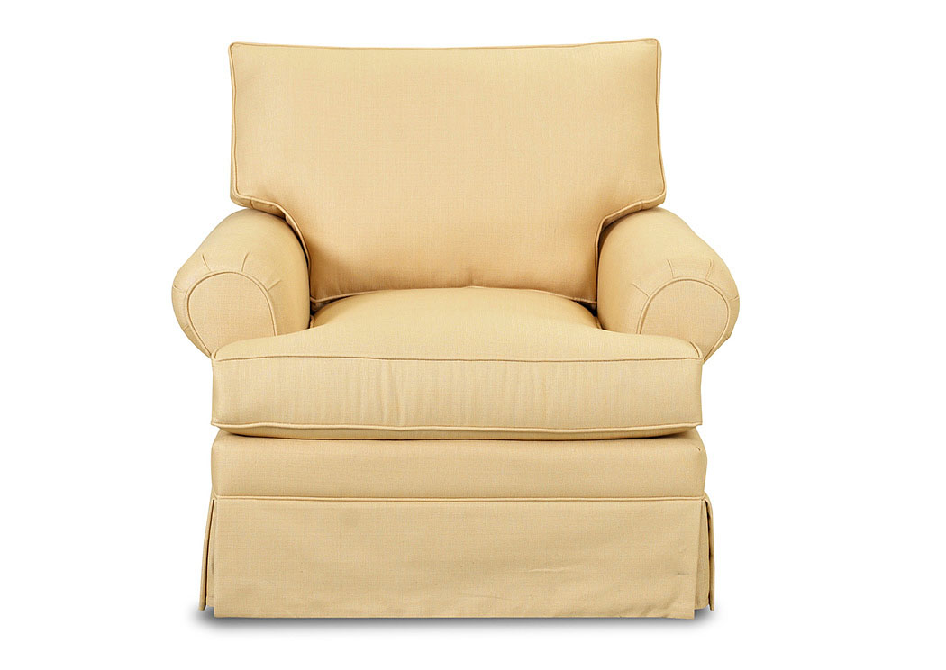 Carolina Yellow Stationary Fabric Chair,Klaussner Home Furnishings