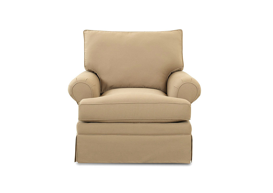 Carolina Ranger Twill Earth Glider Fabric Chair,Klaussner Home Furnishings