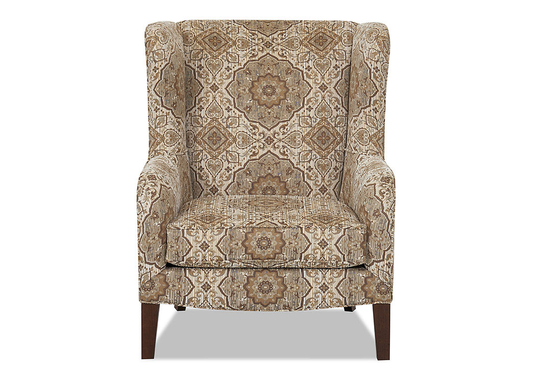 Polo Winchester Putty Stationary Fabric Chair,Klaussner Home Furnishings