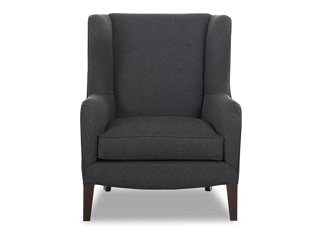 Polo Brookside Charcoal Stationary Fabric Chair,Klaussner Home Furnishings