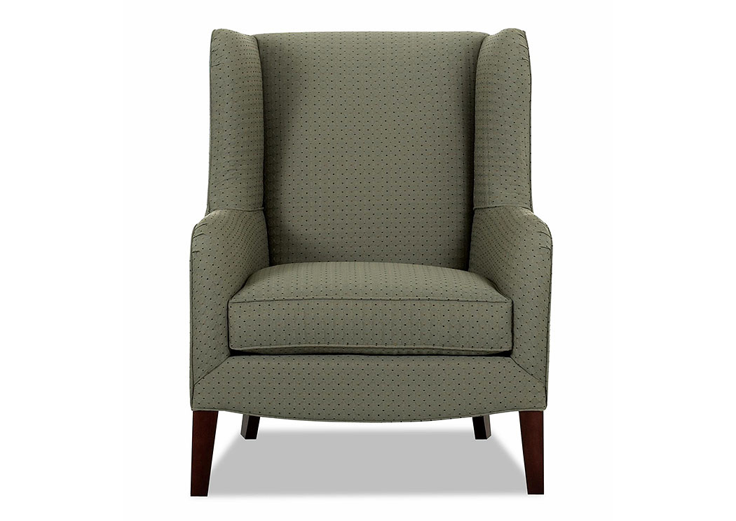 Polo Aegean Green Stationary Fabric Chair,Klaussner Home Furnishings