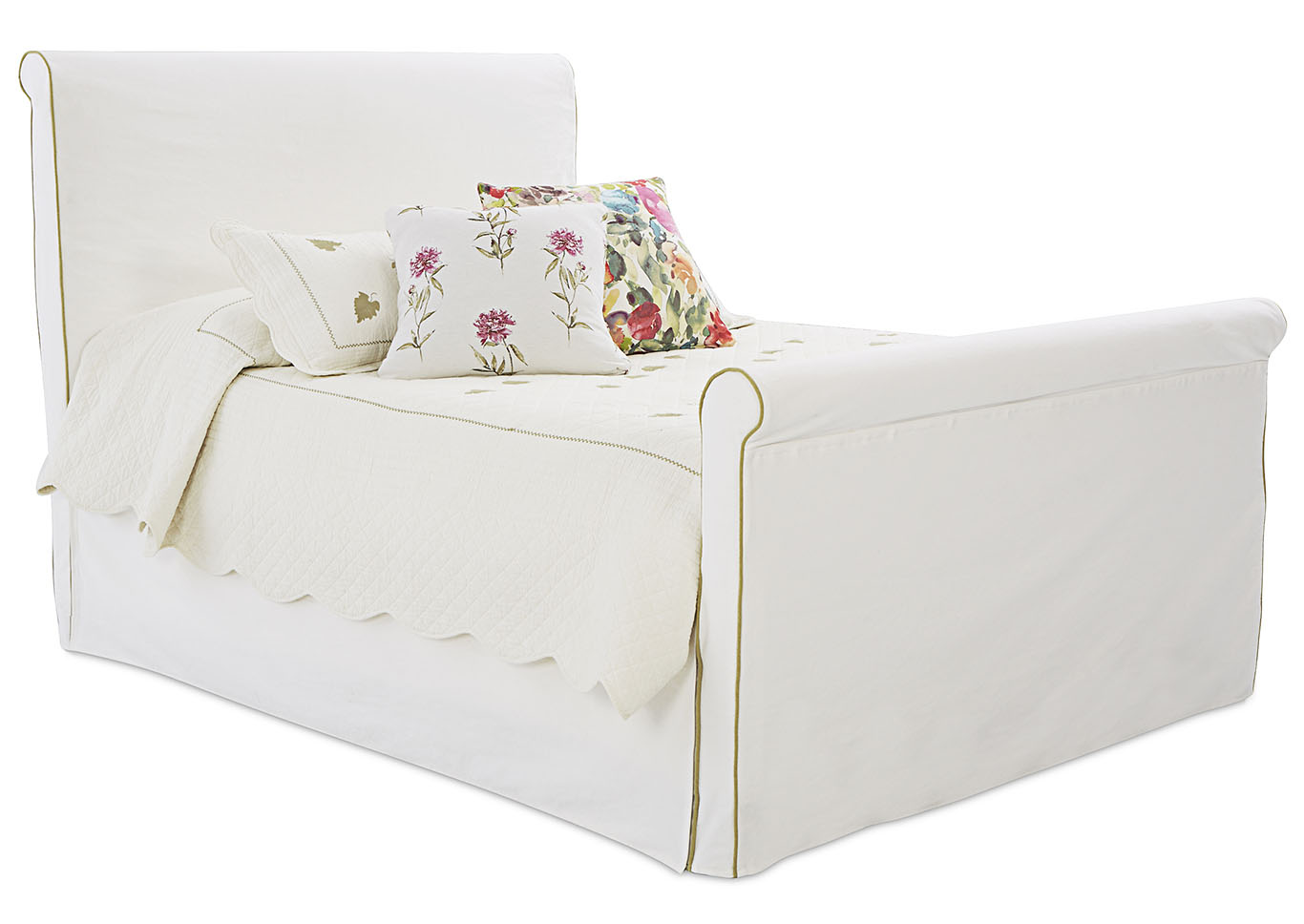 Midland White Fabric King Bed,Klaussner Home Furnishings