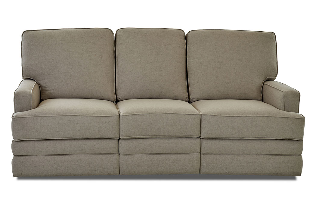 Chapman Lucas Hemp Reclining Fabric Sofa,Klaussner Home Furnishings