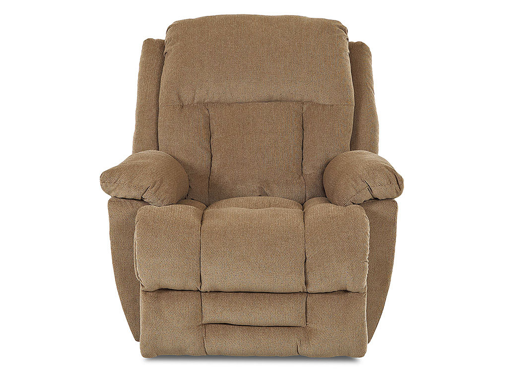 Biscayne Brees Tan Reclining Fabric Chair,Klaussner Home Furnishings