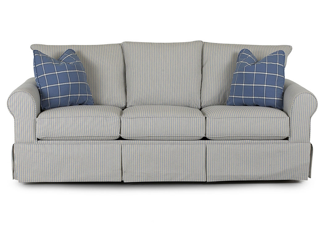 Brook Striped Stationary Fabric Sofa,Klaussner Home Furnishings