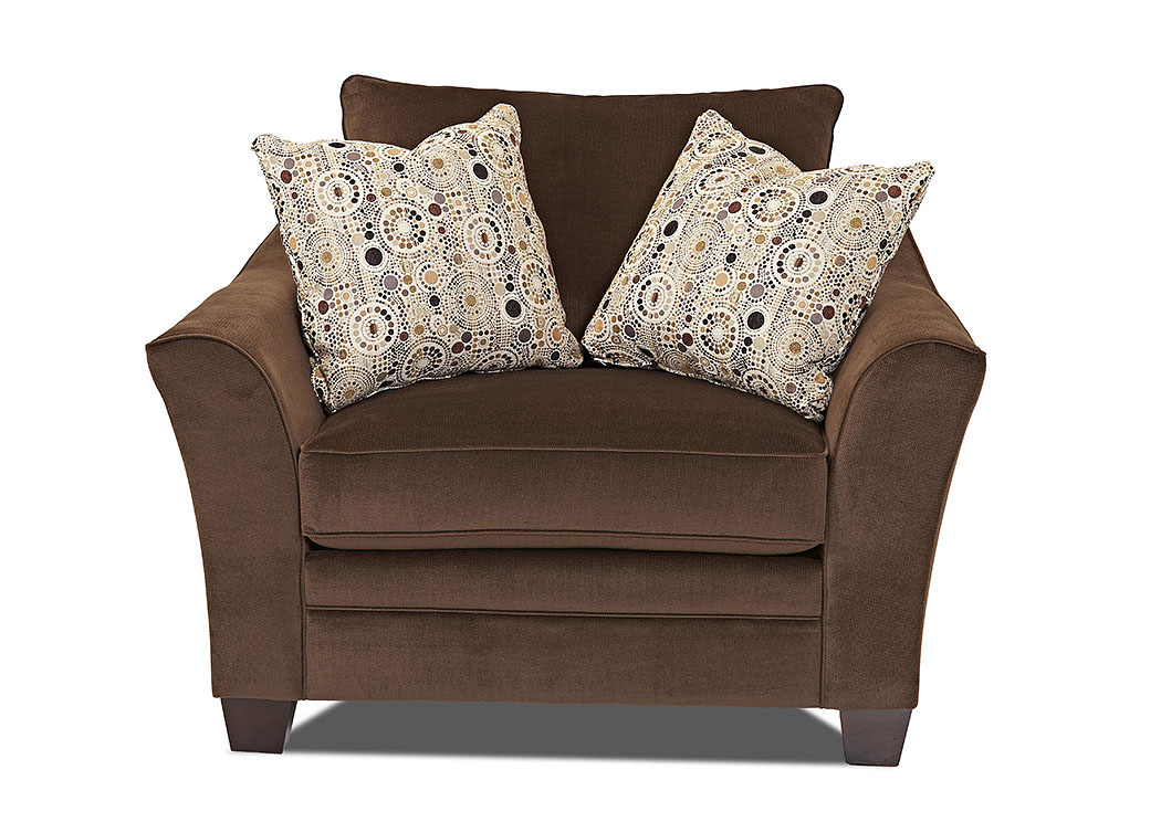 Posen Cocoa Stationary Fabric Chair,Klaussner Home Furnishings