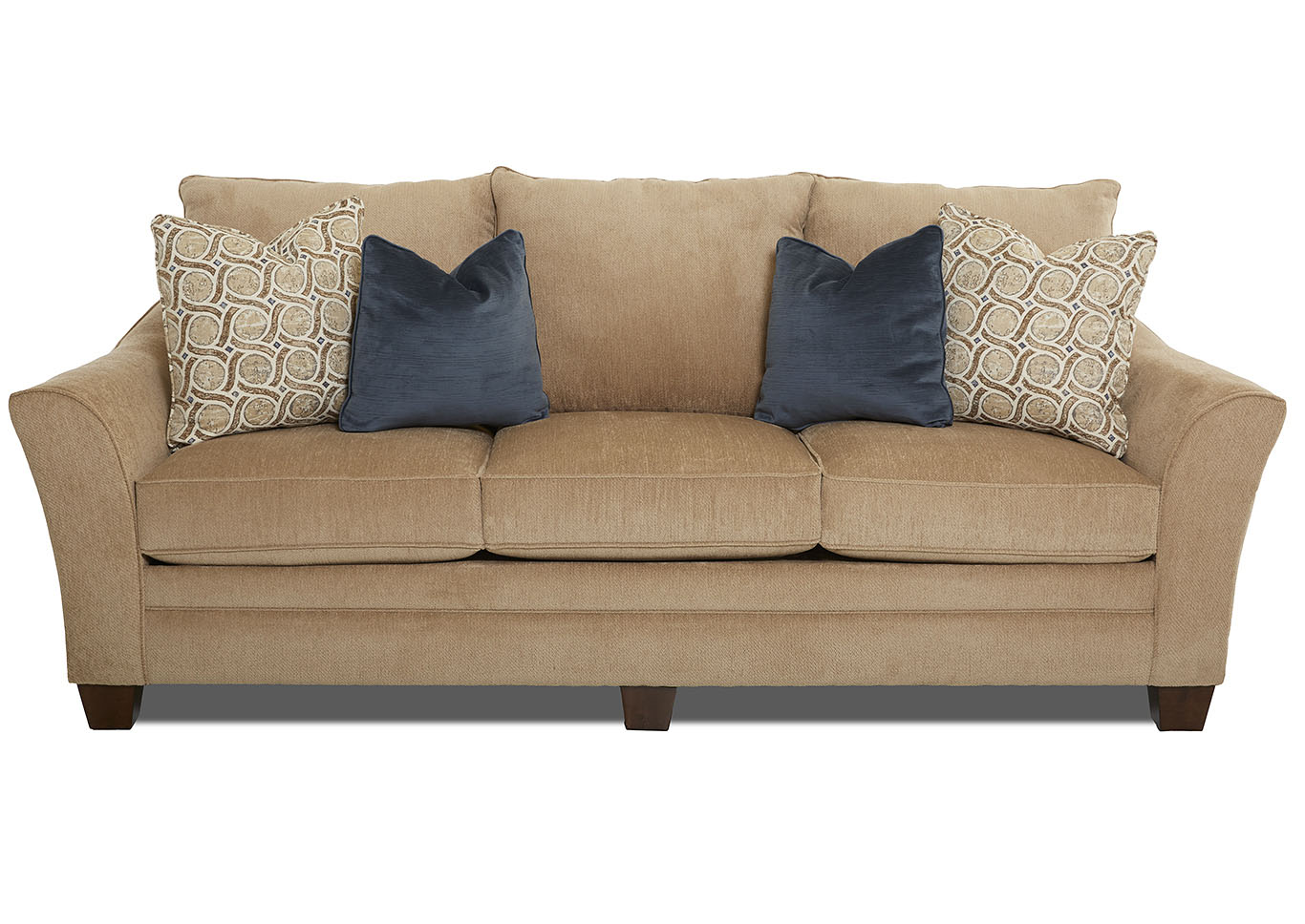 Posen Oatmeal Stationary Fabric Sofa,Klaussner Home Furnishings