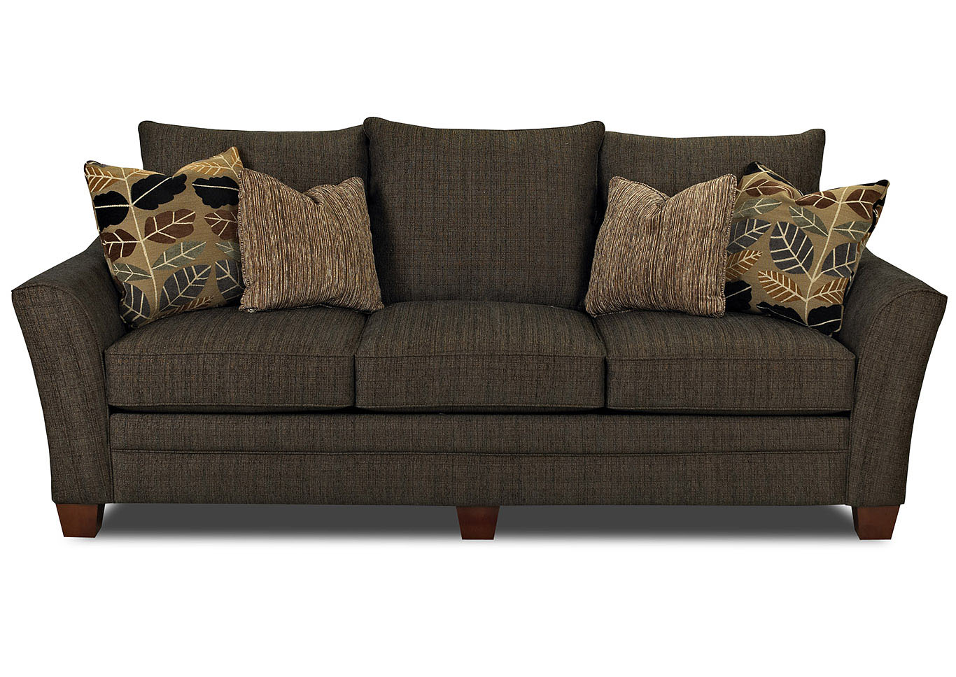 Posen Dark Brown Stationary Fabric Sofa Jesup Furniture Outlet