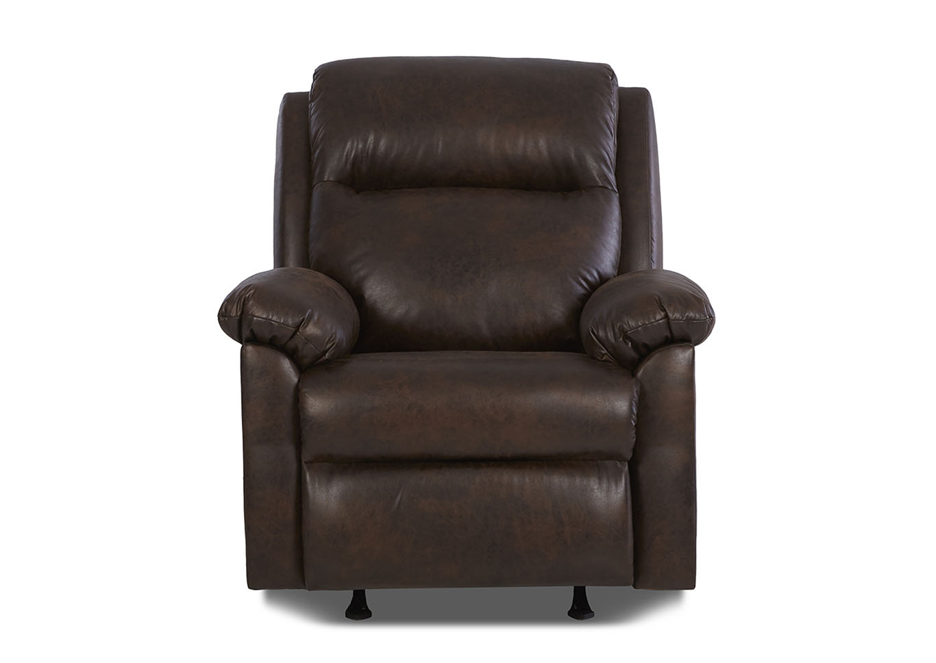 Amari Reclining Leather & Vinyl Chair,Klaussner Home Furnishings
