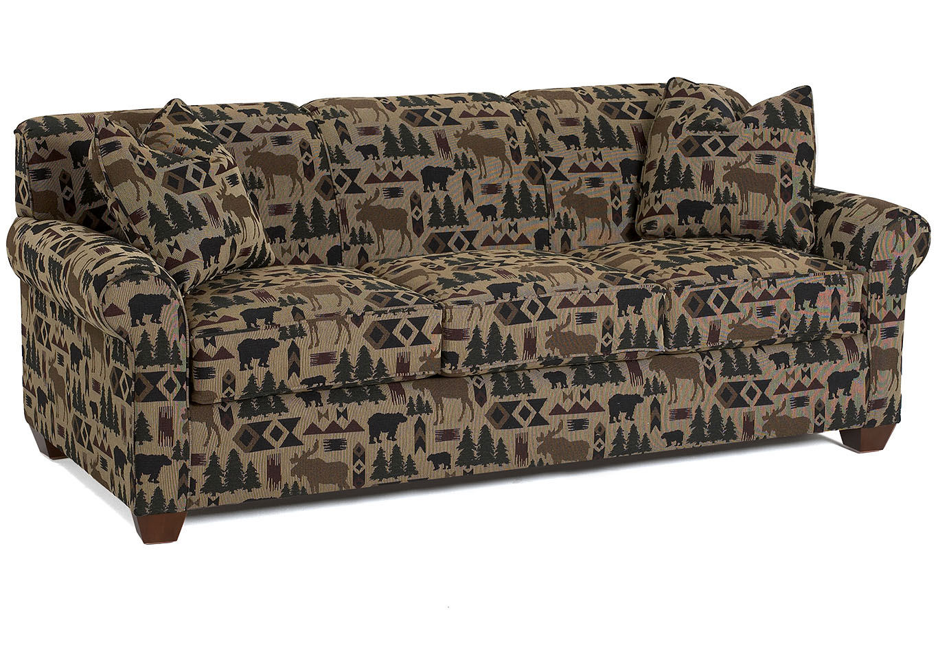 Mayhew Multi-Colored Stationary Fabric Sofa,Klaussner Home Furnishings