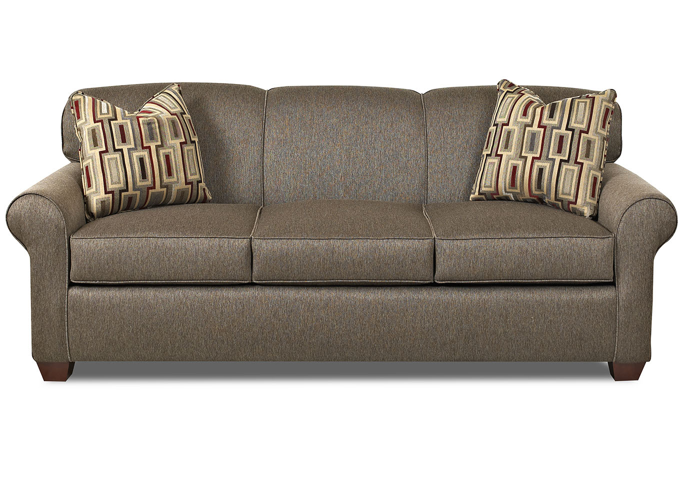 Mayhew Cocoa Stationary Fabric Sofa,Klaussner Home Furnishings