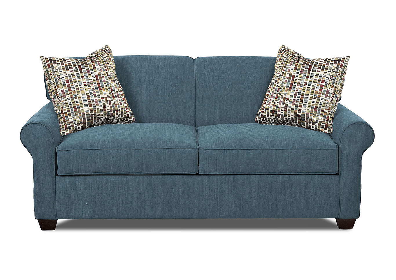 Mayhew Teal Sleeper Fabric Sofa,Klaussner Home Furnishings