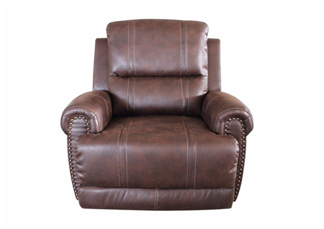 Anaheim Leather Rondo Chocolate Reclining Rocker Chair,Klaussner Home Furnishings