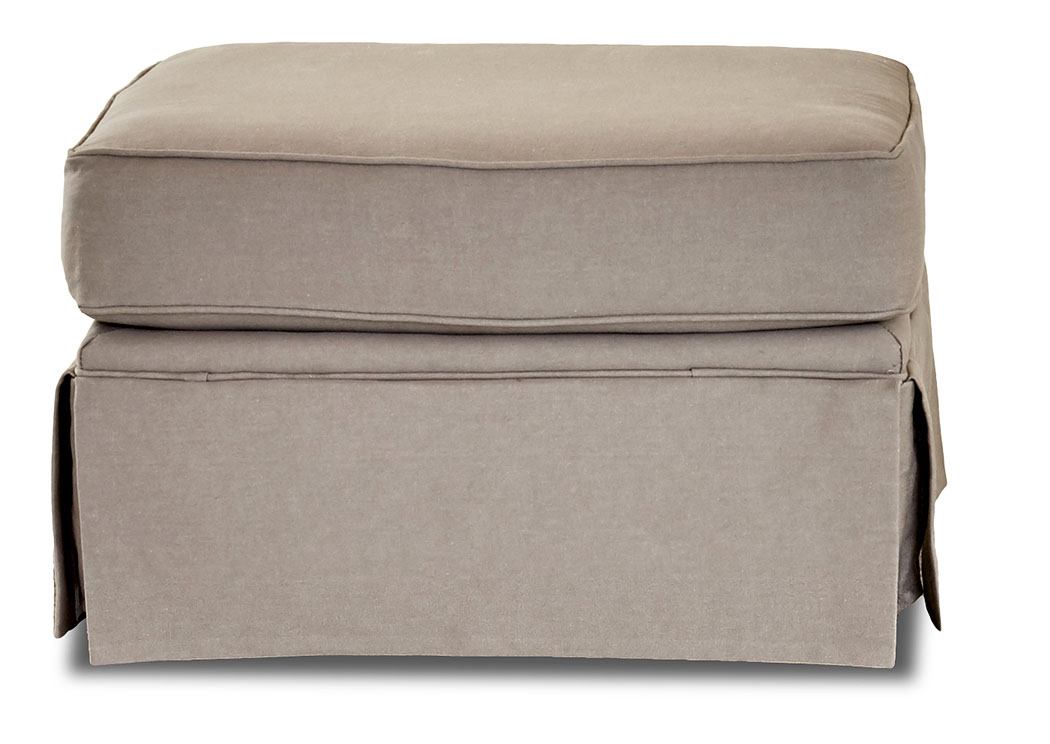 Woodwin Classic Smoke Brown Stationary Fabric Ottoman,Klaussner Home Furnishings