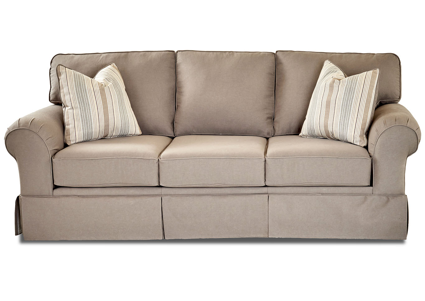 Woodwin Classic Smoke Fabric Sofa,Klaussner Home Furnishings
