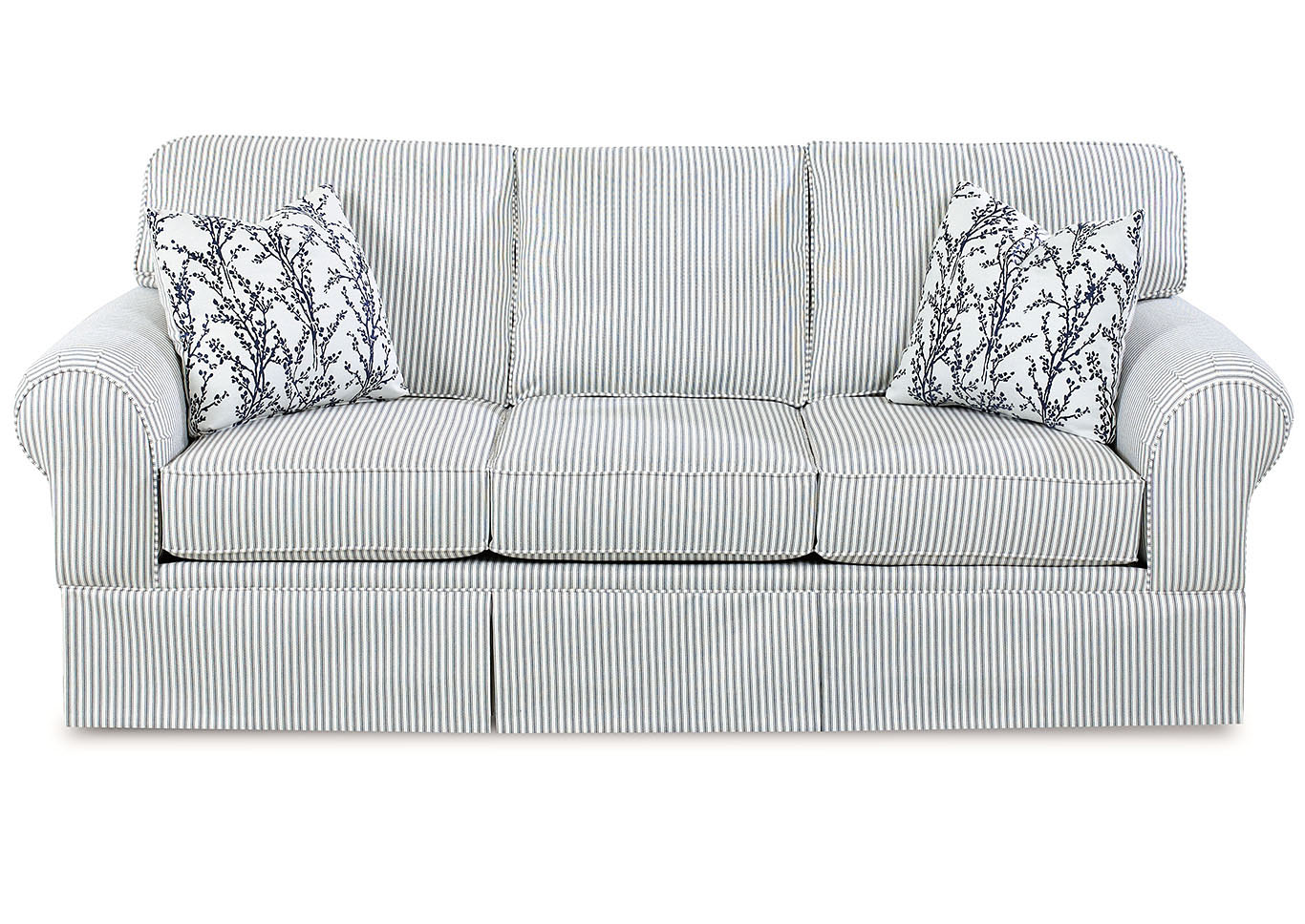 Woodwin Adrift Striped Stationary Fabric Sofa,Klaussner Home Furnishings