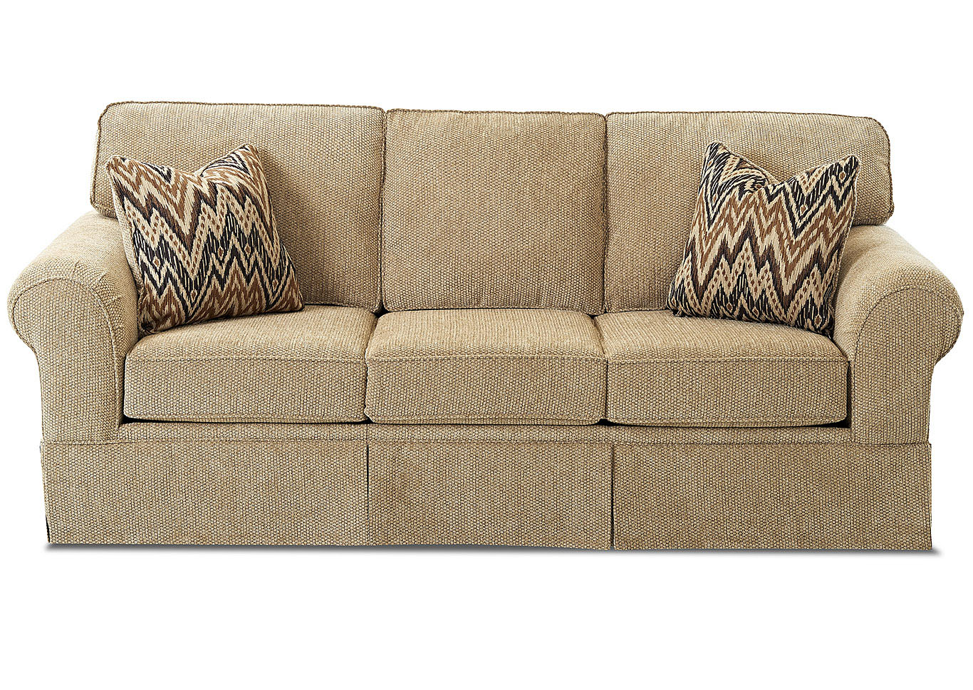 Woodwin Frenzy Cashmere Fabric Sleeper Sofa,Klaussner Home Furnishings