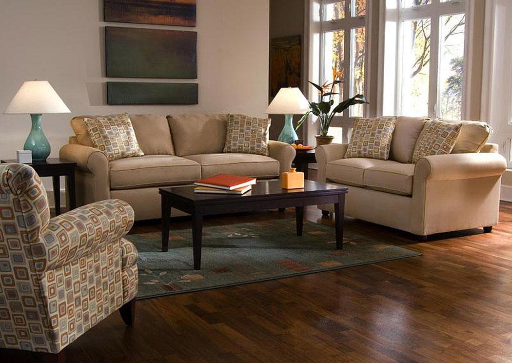 Brighton Khaki Sofa & Loveseat Barnett & Brown Furniture - Florence, AL