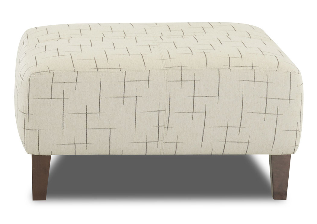 Nile Philosophy Licorice Stationary Fabric Ottoman,Klaussner Home Furnishings