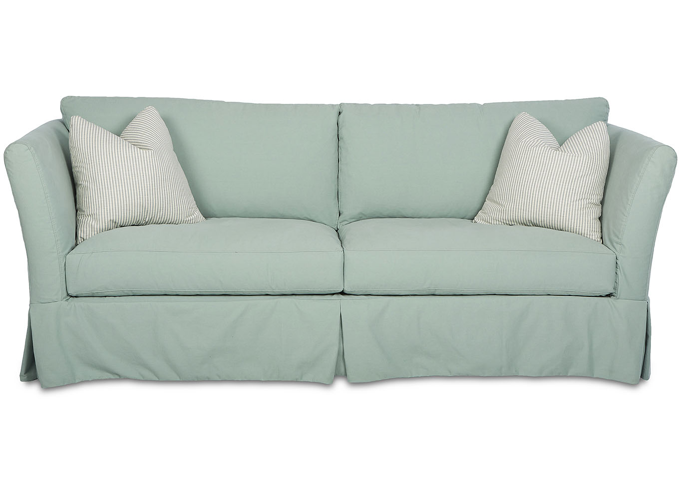Alexis Stationary Teal Fabric Sofa,Klaussner Home Furnishings