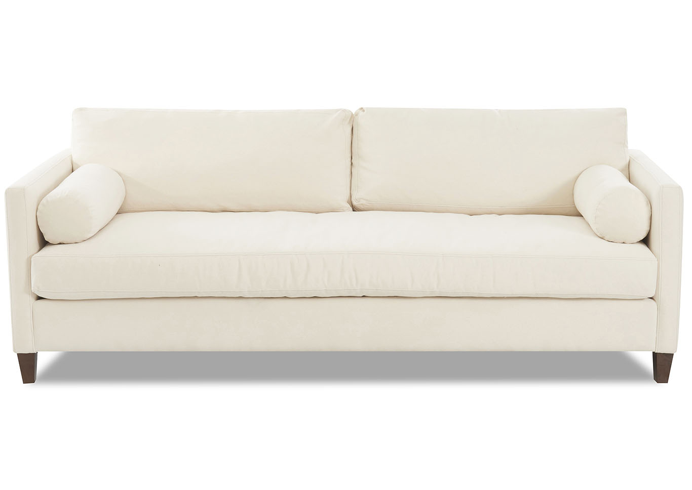 Brinley Bull Natural Stationary Fabric Sofa,Klaussner Home Furnishings