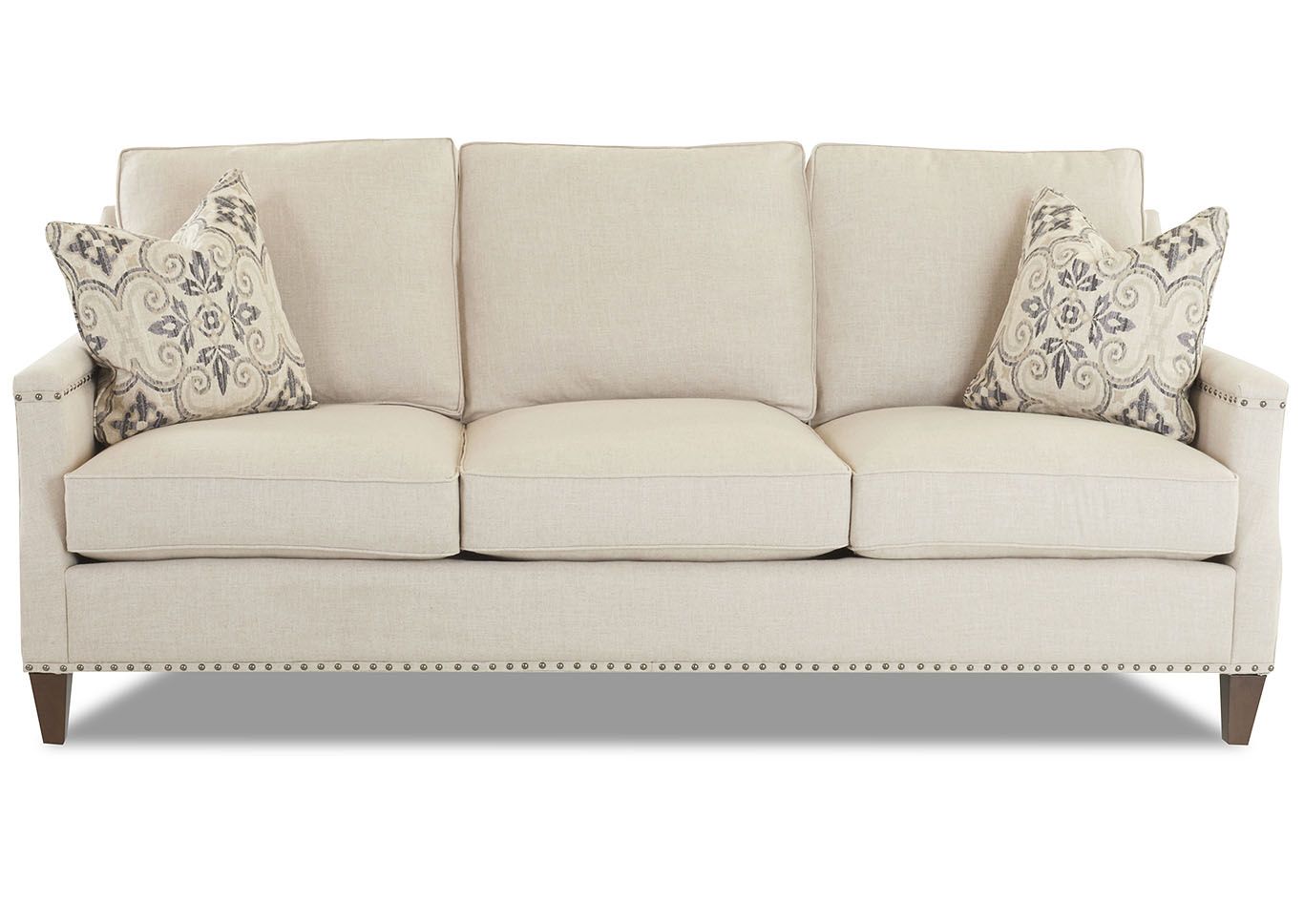 Write A Review - Bond Natural Stationary Fabric Sofa - Best Buy Furniture And Mattress