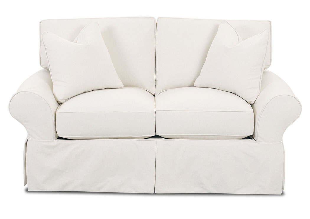 Patterns Bull Natural Stationary Fabric Loveseat,Klaussner Home Furnishings