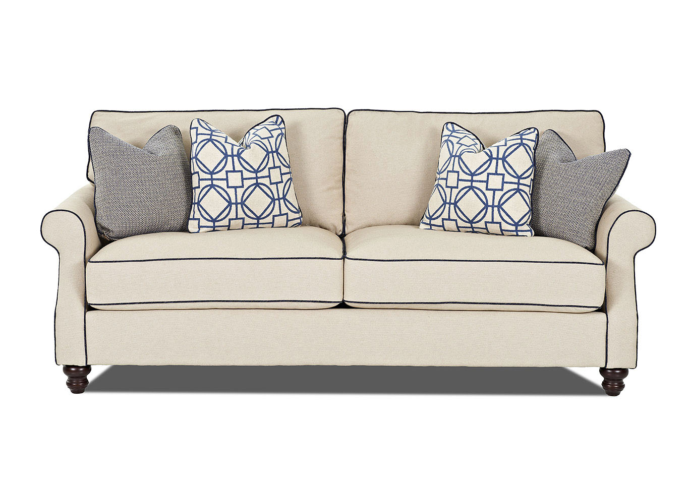 Tifton Trixie Linen Stationary Fabric Sofa,Klaussner Home Furnishings