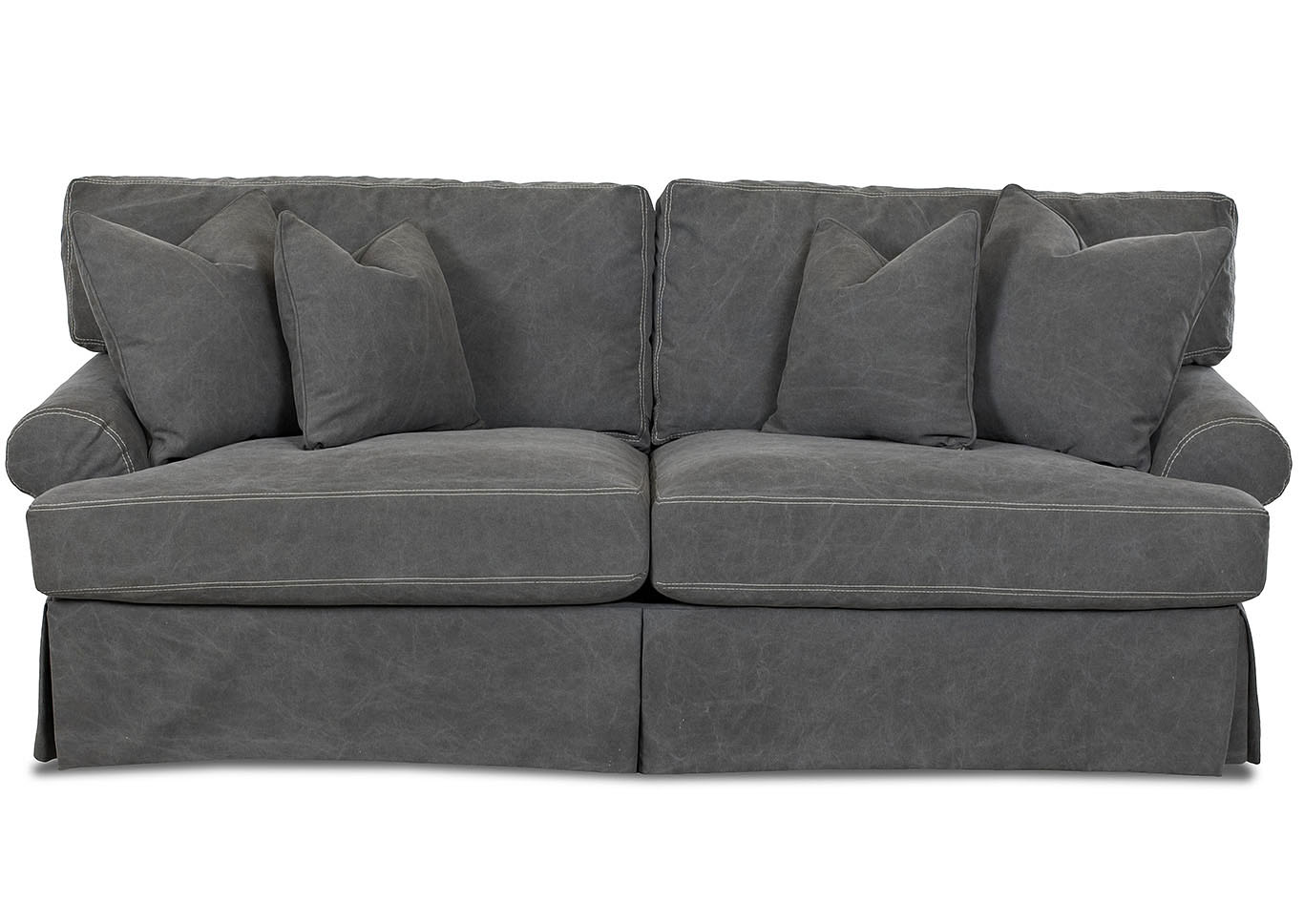 Lahoya Tibby Pewter Microfiber Sofa,Klaussner Home Furnishings