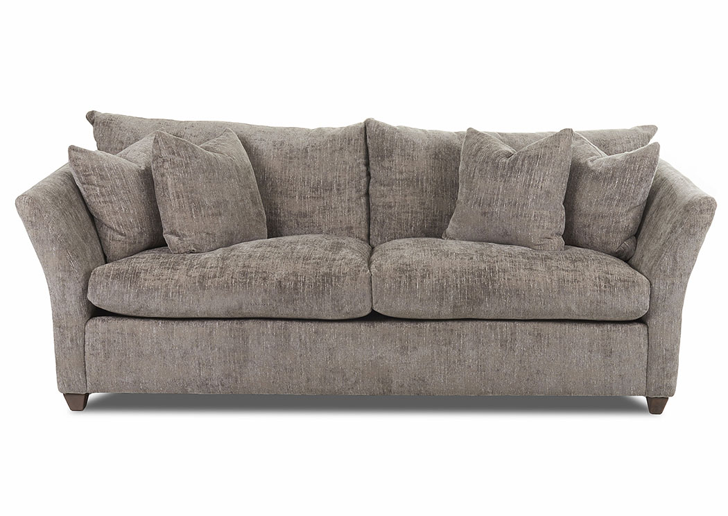 Fifi Pegram Gunmetal Stationary Fabric Sofa,Klaussner Home Furnishings
