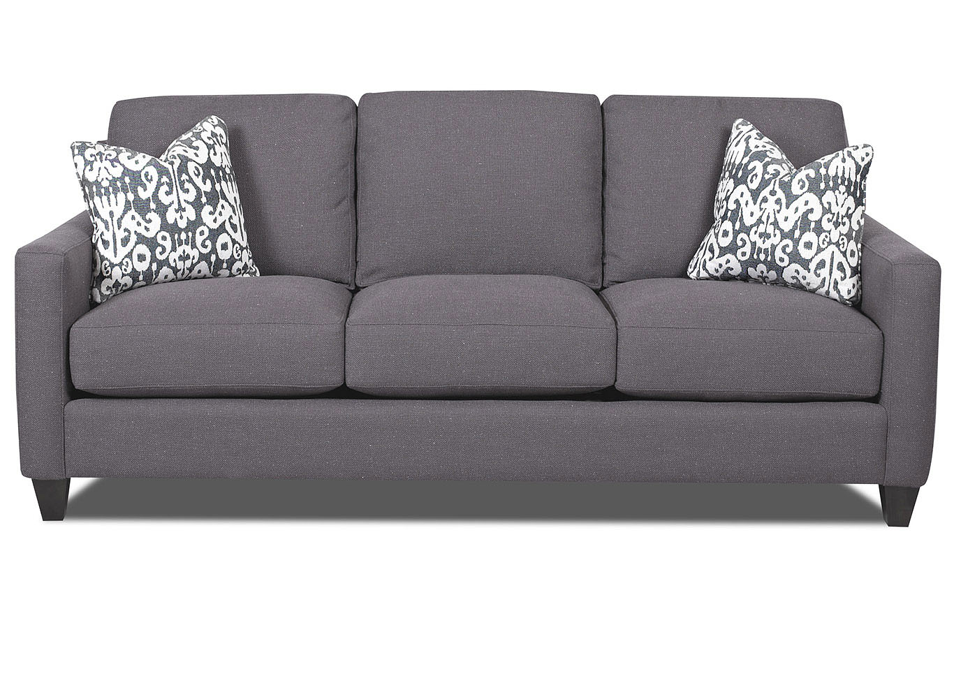 Fuller Smoke Gray Stationary Fabric Sofa,Klaussner Home Furnishings