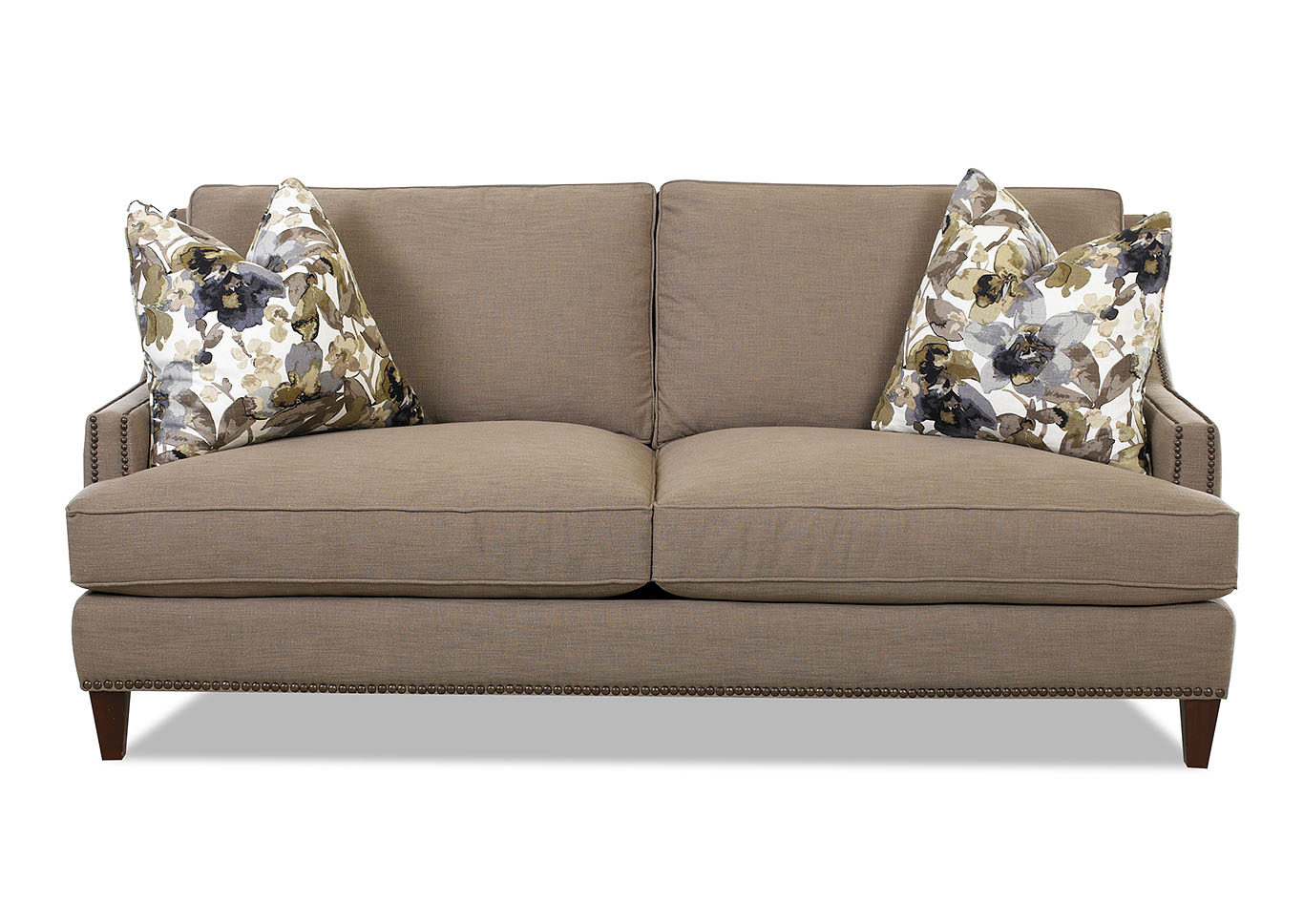 Duchess Lizzy Hemp Stationary Fabric Sofa,Klaussner Home Furnishings