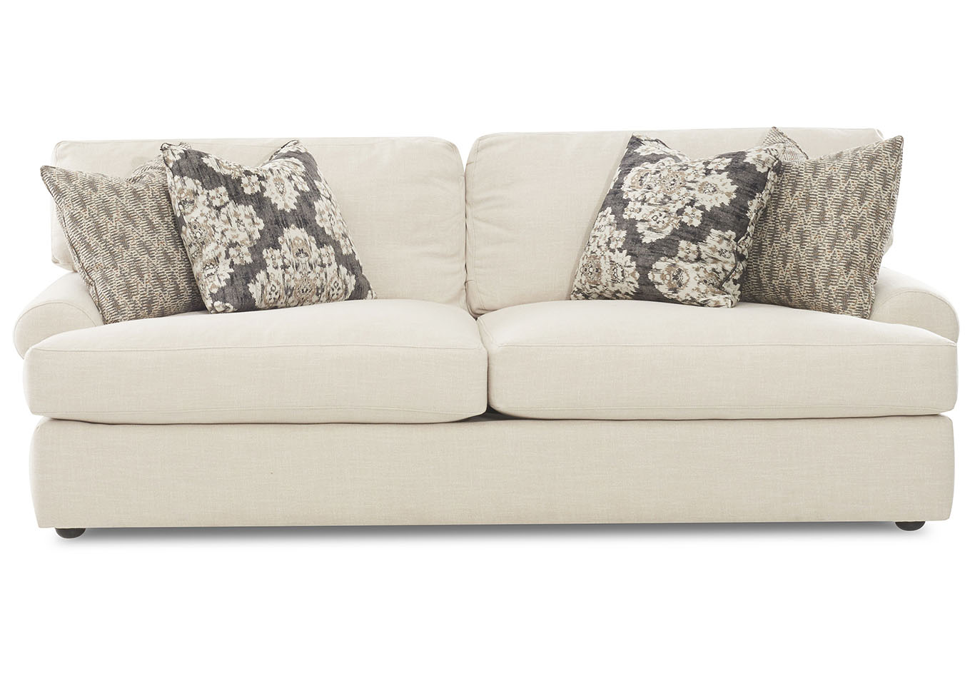 Adelyn Baldwin Lace Stationary Fabric Sofa,Klaussner Home Furnishings