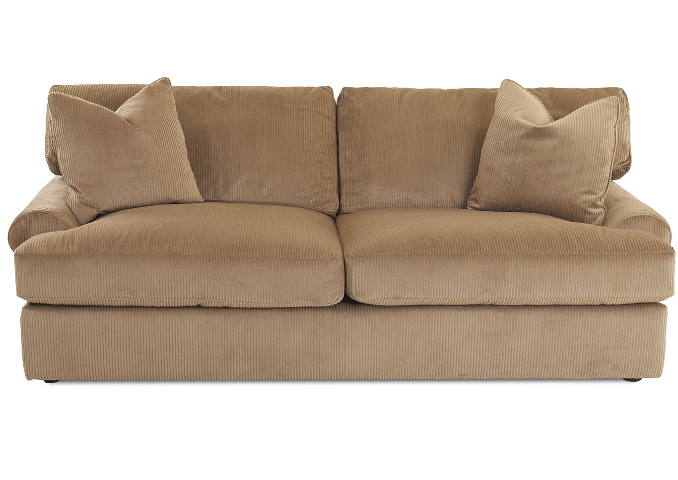 Adelyn Rich Brown Stationary Fabric Sofa,Klaussner Home Furnishings