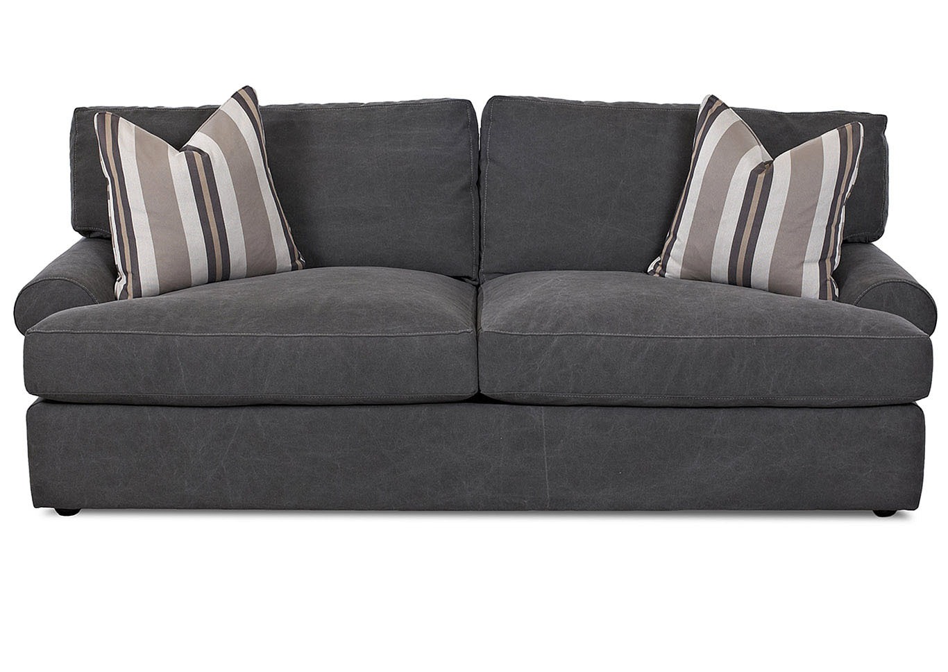 Adelyn Tibby Pewter Stationary Fabric Sofa,Klaussner Home Furnishings