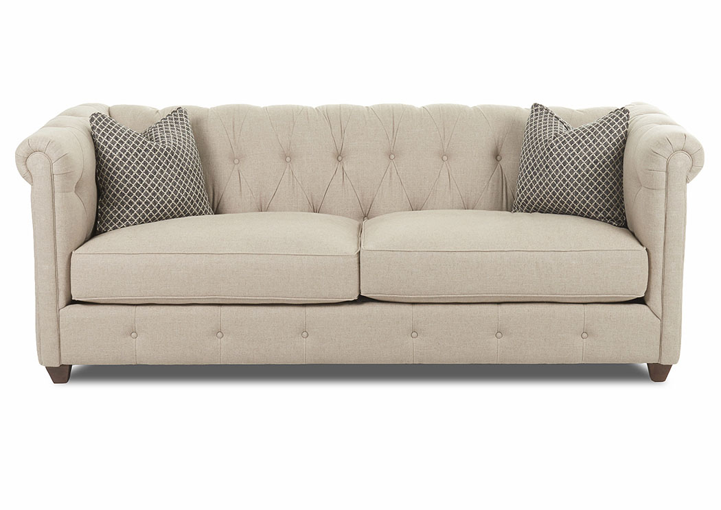 Beech Mountain Natural Stationary Fabric Sofa,Klaussner Home Furnishings