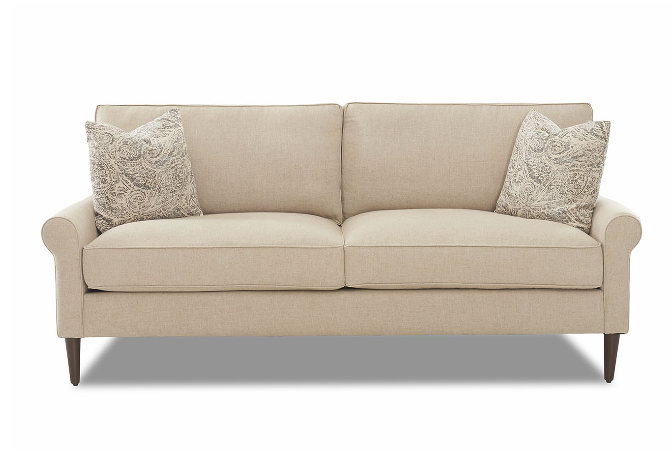 Chelsea Studio Natural Stationary Fabric Loveseat,Klaussner Home Furnishings