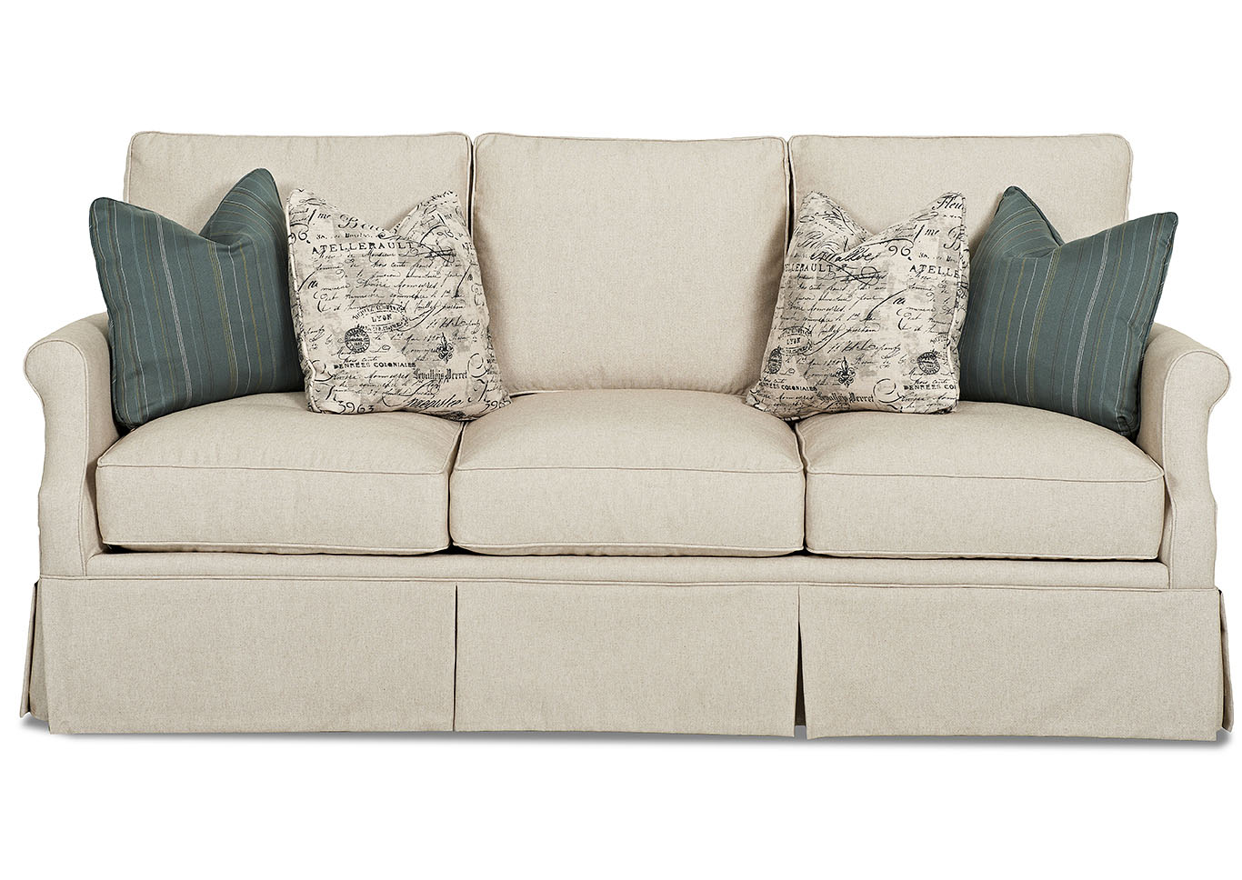 Madam Chairman Lima Natural Stationary Fabric Sofa,Klaussner Home Furnishings